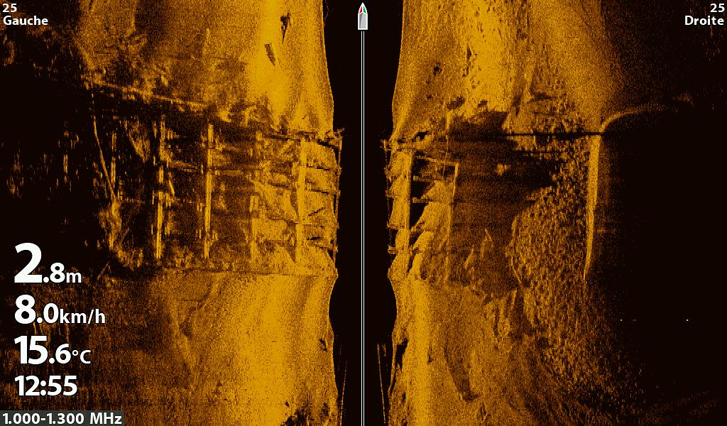 une structure d'un pont coulé