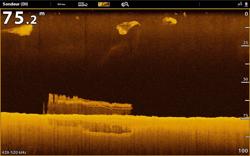 Epave en Down imaging